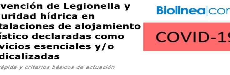 GUÍA LEGIONELLA ESTABLECIMIENTOS TURÍSTICOS MEDICALIZADOS